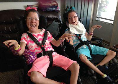 Kellie-Sibling: Twin Sisters with Quadriplegic Cerebral Palsy